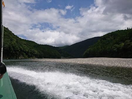 瀞峡へ向かう途中の景色