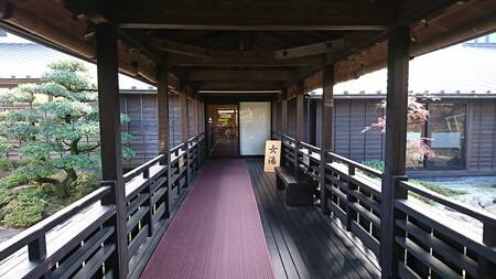 熊野の郷 温泉入り口の廊下