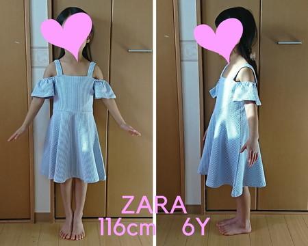 ZARA ワンピース サイズ感