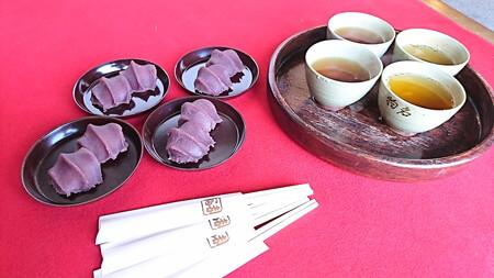 赤福餅とお茶