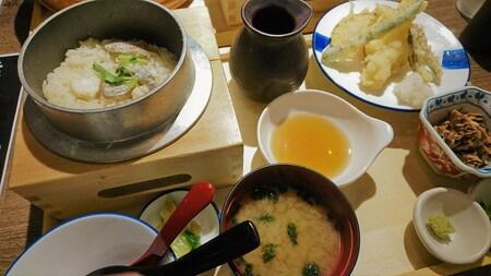 龍神丸 鯛の釜飯と天ぷら定食