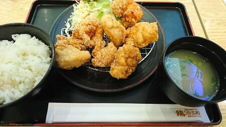 浜松SA上り 鶏三和 唐揚げ定食