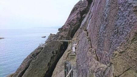 鬼が城 猿戻り 岩の裂け目