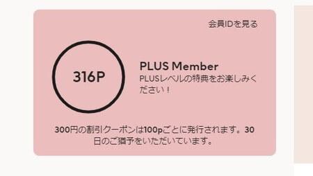 H&M プラスメンバーカード