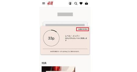 H&Mメンバーマイアカウント