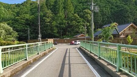 湯ノ口温泉 行くまでの橋