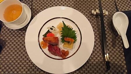 横浜ベイシェラトンホテル 彩龍 彩ランチ前菜