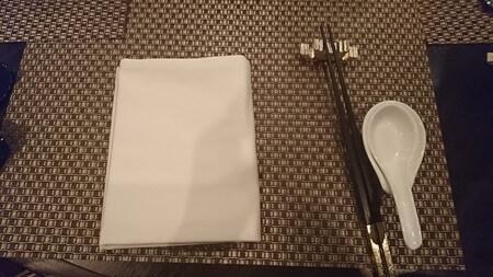 横浜ベイシェラトンホテル 彩龍 テーブルセッティング