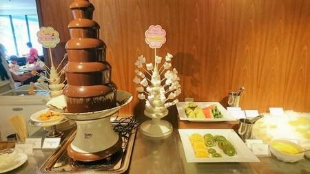 セリーナランチバイキング チョコレートファウンテン