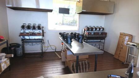コーヒー豆焙煎の機械