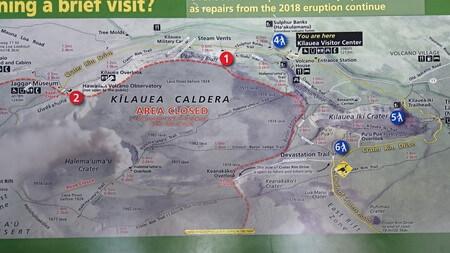 ハワイ火山国立公園地図
