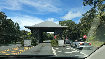 ハワイ火山国立公園 入場ゲート