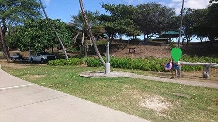 ハプナビーチのシャワー