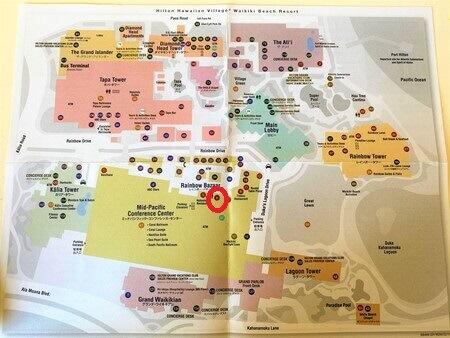 ヒルトンハワイアンビレッジ地図