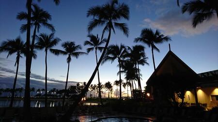 パラダイスプールからの夕日