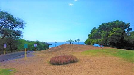 ハプナビーチ 海へ向かう道
