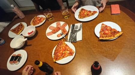 ピザとスパム