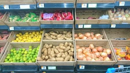 ウォルマート 野菜コーナー
