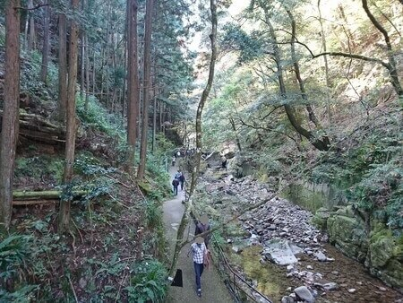 赤目四十八滝 渓谷入り口付近