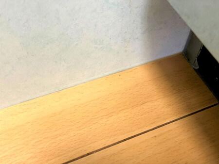 キッチンのきれいになった床