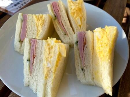 かげろうカフェのモーニングサンドイッチ