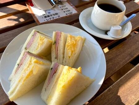 かげろうカフェ モーニングサンドイッチ